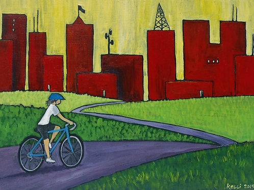 """Riding into the City"""