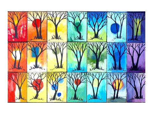 Art Card: Rainbow Trees