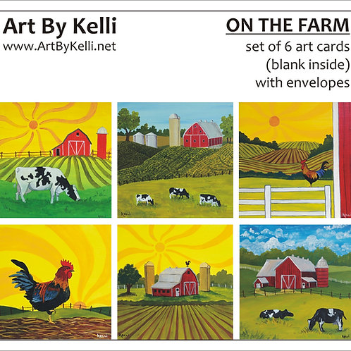 """On the Farm"" Art Cards Boxed Set"