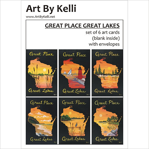 """Great Place Great Lakes"" Art Cards Boxed Set"