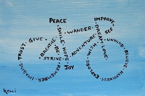 """Peace, Improve, See, Joy"""