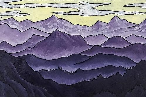 """""""Mountain Range in Purple"""""""