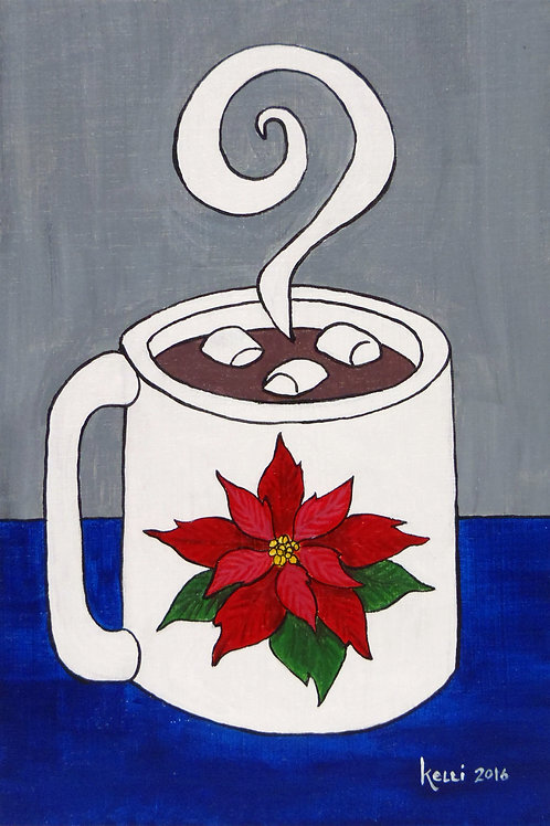 """Winter Mug: Poinsettia"""