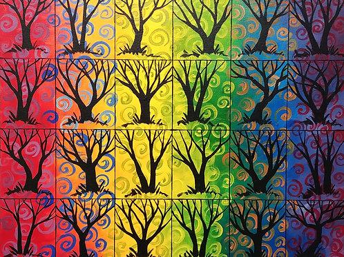 """A Rainbow of Trees 9"""