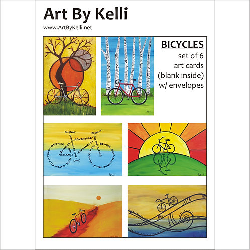 """""""Bicycles"""" Art Cards Boxed Set"""