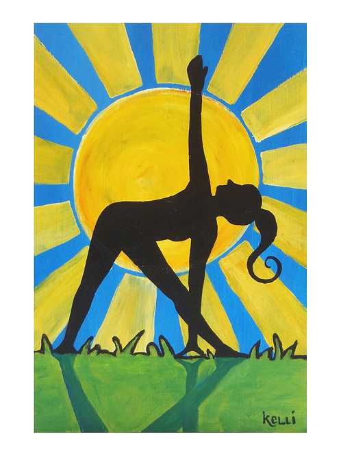 Art Card: Triangle in the Sun