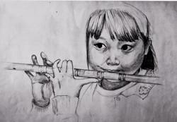 Flute Girl Sketch