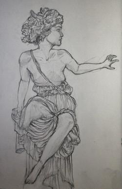 Palais Garnier Music pencil study