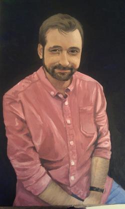 Man Acrylic Portrait Comission
