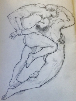 Bougereau painting pencil study