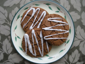 Rum Glaze Drizzle Molasses Cookie