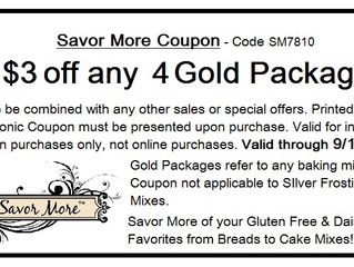 Savor More Anytime Favorites   & Coupon Offer!
