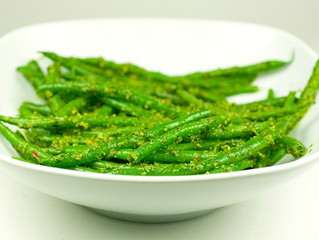 Green Beans with Kale and Hemp Seed Pesto