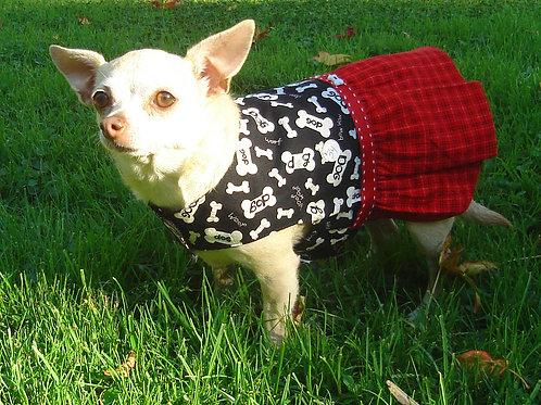 Bow Wow Ruffled Skirt Dog Dress