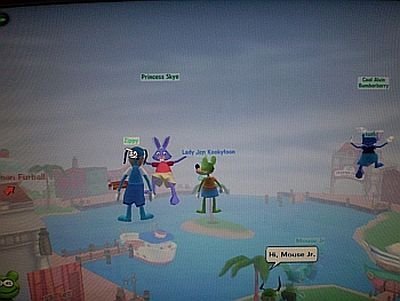 Chilling in the air in Donald's Dock with my kiddos