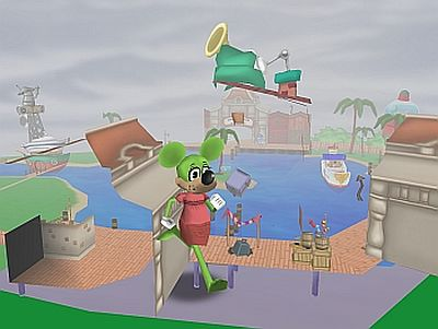 Running through the air in Donald's Dock