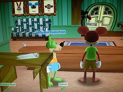Minnie's Melodyland behind Barry's desk - glitch