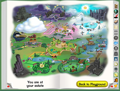 Map of ToonTown