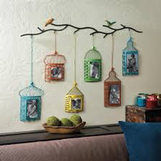 Birdcage Photo Frame Décor