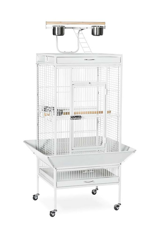 Prevue Pet Products Wrought Iron Select Cage White 24x20x60in
