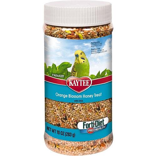 Kaytee Forti-Diet Pro Health Parakeet Oran Blos Honey Jar 10oz