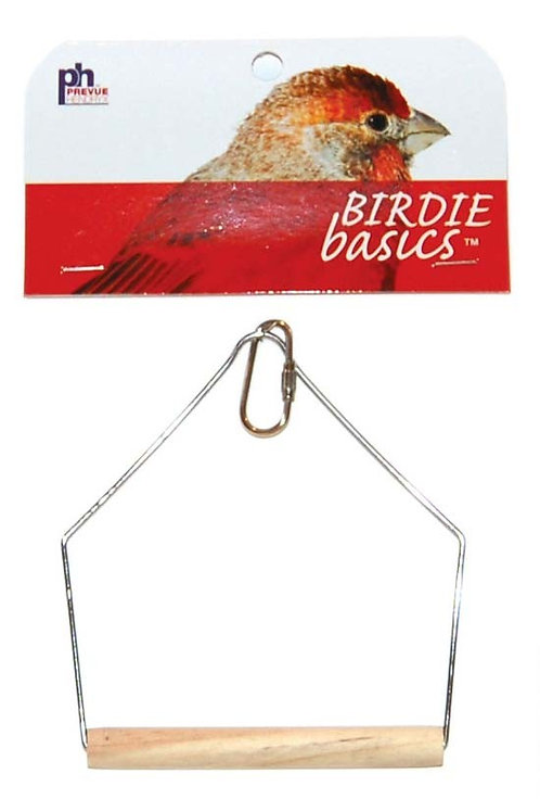 Prevue Pet Products Birdie Basics Wood Swing 4inX5in