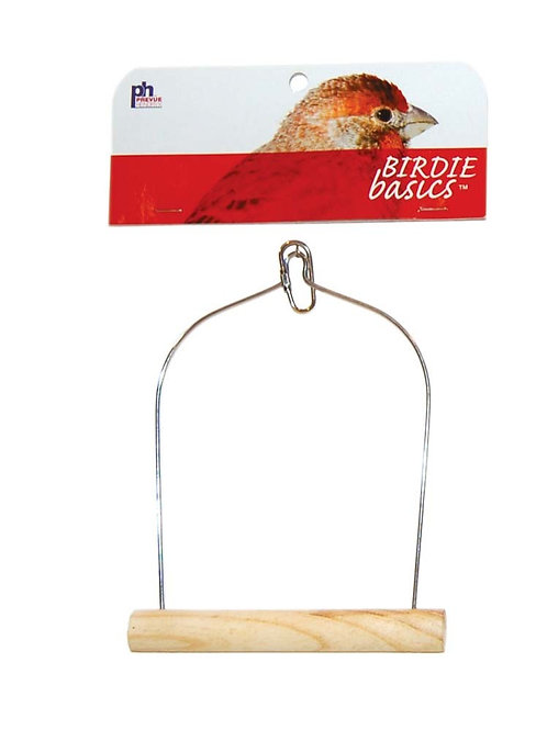 Prevue Pet Products Birdie Basics Wood Swing 5inX7in