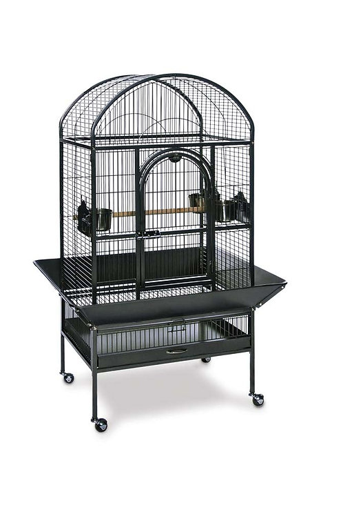 Prevue Pet Products Dometop Parrot Cage Black 27X21X58In