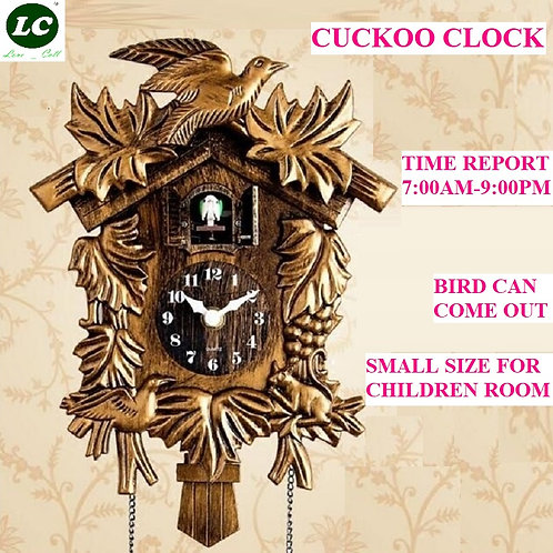 Cuckoo Clock Living Room Wall Clock  Alarm With  Unicorn Decorations