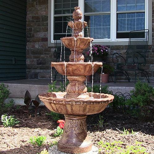 Sunnydaze 4-Tier Pineapple Fountain