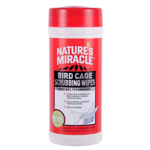 Nature's Miracle Cage Scrubbing Wipes 30ct