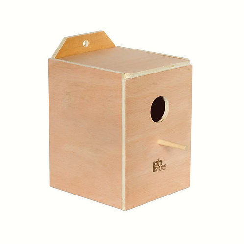 Prevue Pet Products Hardwood Inside Parakeet Nest Box Large