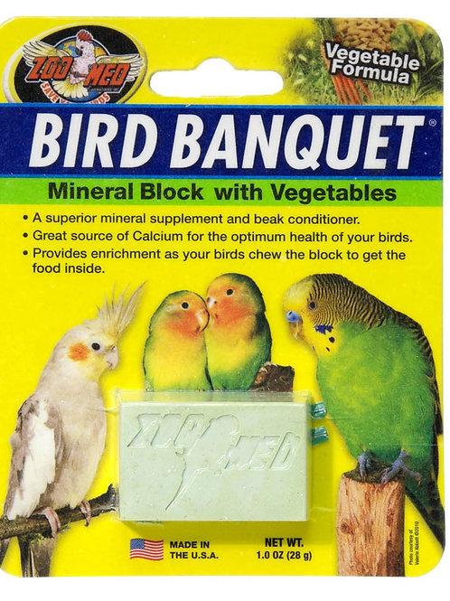 Zoo Med Bird Banquet Block Veggie Formula Small