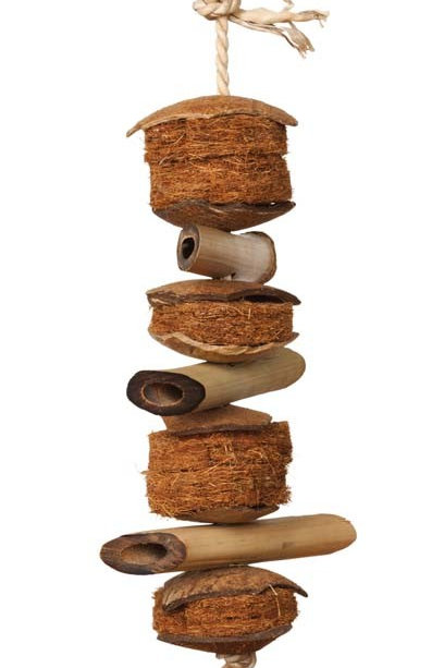 Prevue Pet Products Naturals Coco and Bamboo Bird Toy