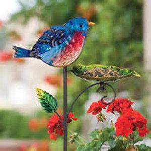Bird Feeder Stake - Blue Bird