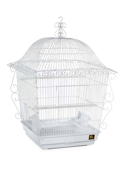 Prevue Pet Products Jumbo Scrollwork Cage White 18x18
