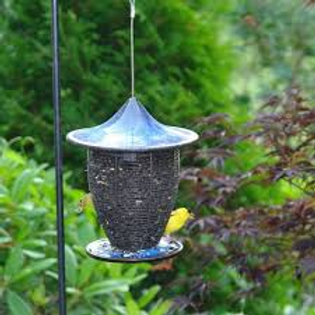 Pagoda Bird Feeder Cobalt Blue