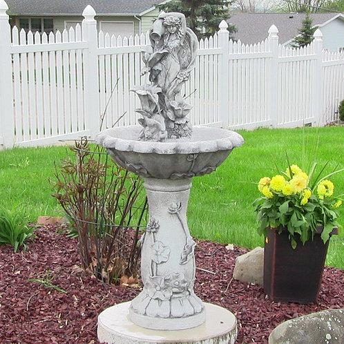 Sunnydaze Fairy Flower Solar On Demand Fountain