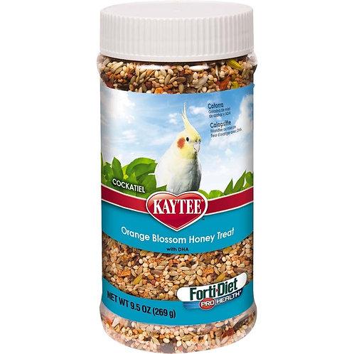 Kaytee Forti-Diet Pro Health Cockatiel Oran Blos Honey Jar 9.5oz