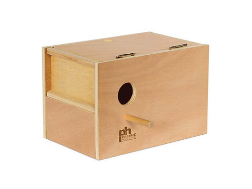 Prevue Pet Products Hardwood Outside Parakeet Nest Box Medium