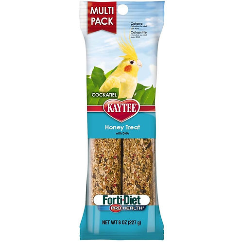 Kaytee Forti-Diet Pro Health Cockatiel Honey Stick Value 8oz