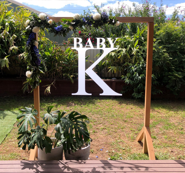 Baby Shower hanging sign
