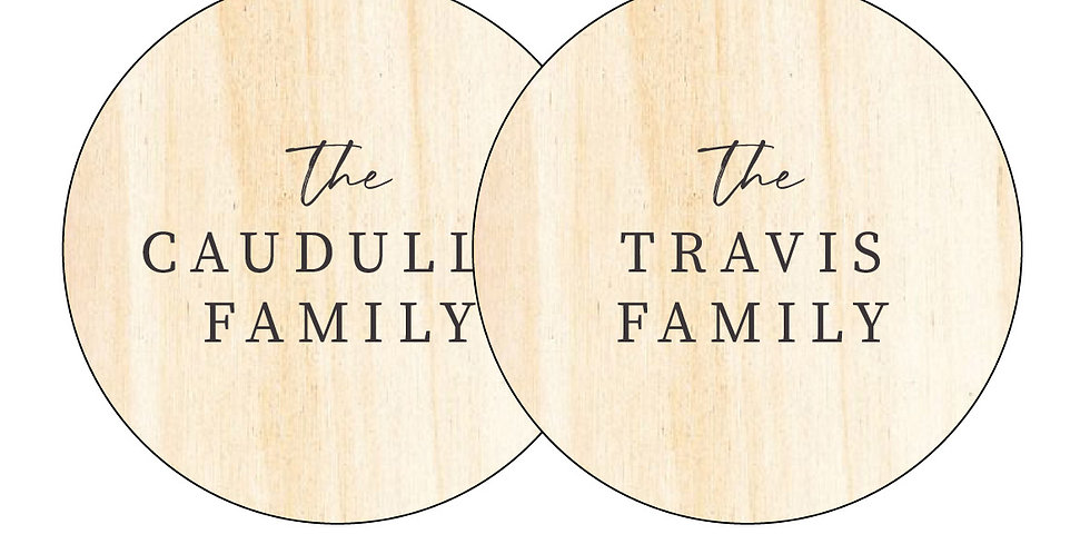 Family Name Bauble - 2 Pack