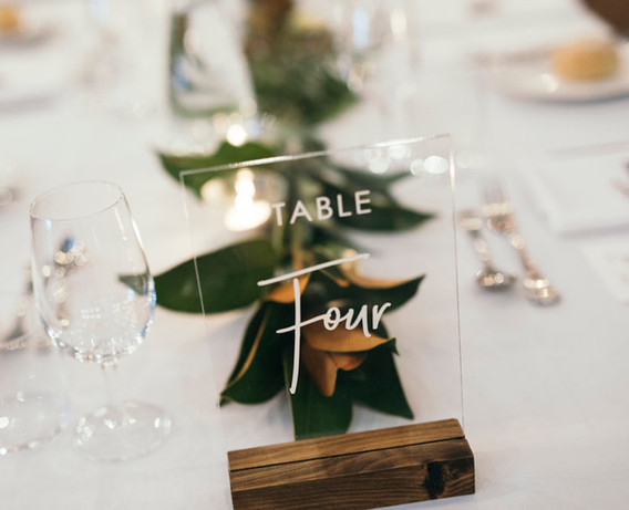 Engraved Clear Acrylic Table Number