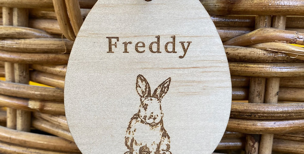 Easter gift name tag engraved personalised rabbit - The Laser Cutting Studio Geelong, Australia