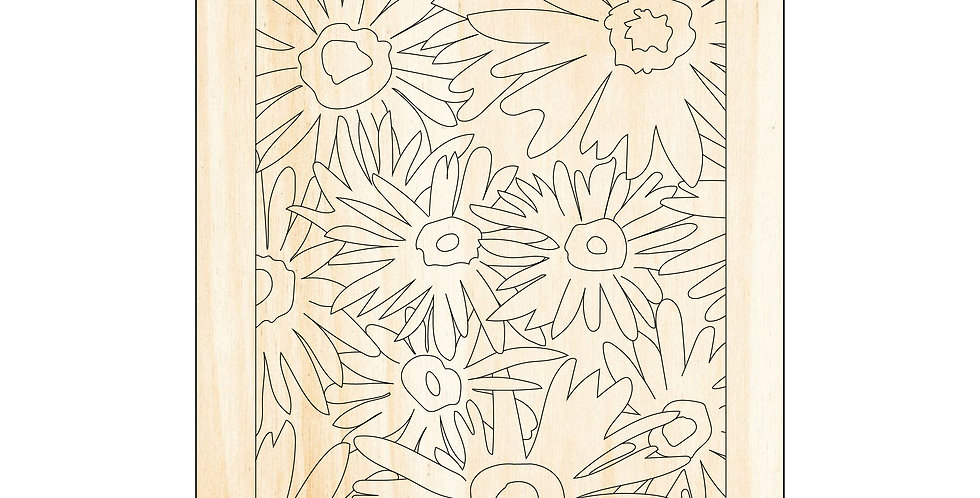 PIY Paint It Yourself Poster Daisies Flowers Kids Room Nursery Artwork Boho - The Laser Cutting Studio Geelong, Australia