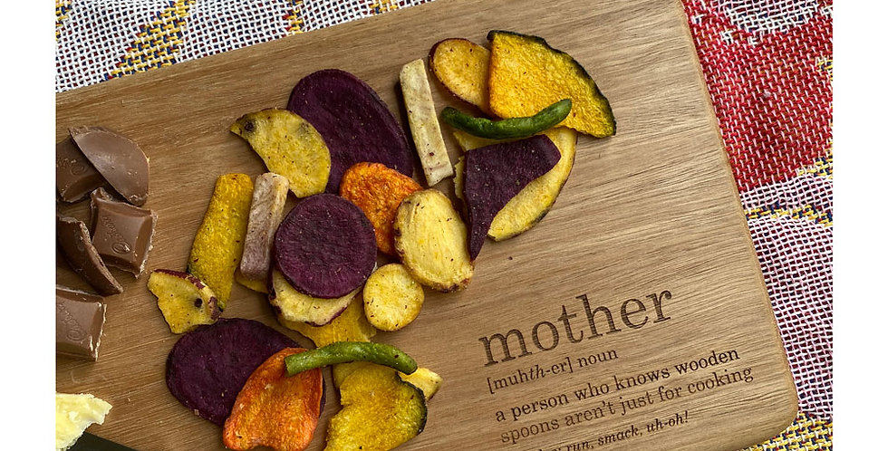 Mother's Day chopping board serving platter engraved personalised - The Laser Cutting Studio Geelong, Australia