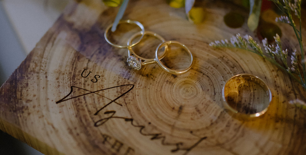 Wedding engagement timber ring board, engraved personalised - The Laser Cutting Studio Geelong, Australia