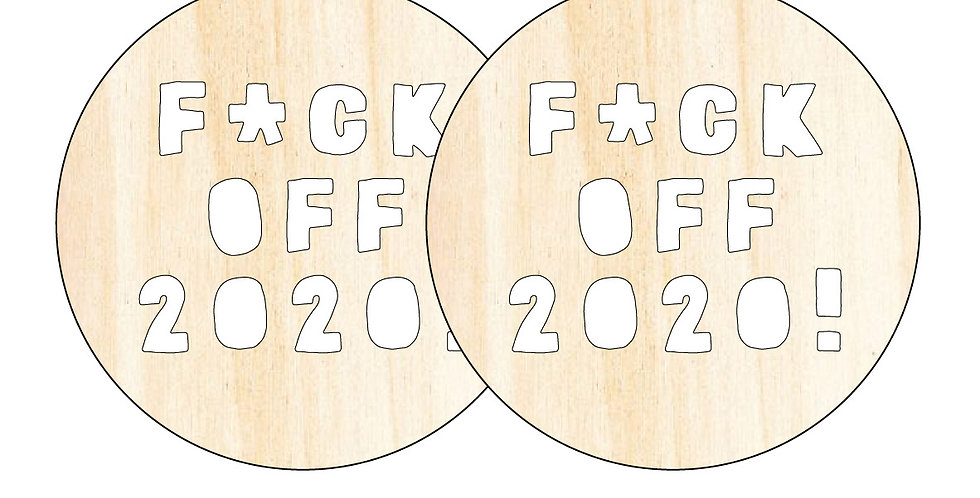 F*ck Off 2020! Bauble - 2 Pack
