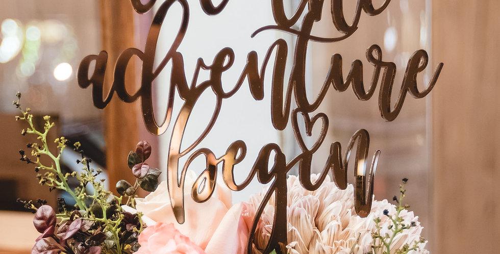 Wedding engagement birthday cake topper - The Laser Cutting Studio Geelong, Australia